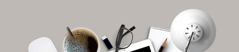 Webdesigner Schreibtisch