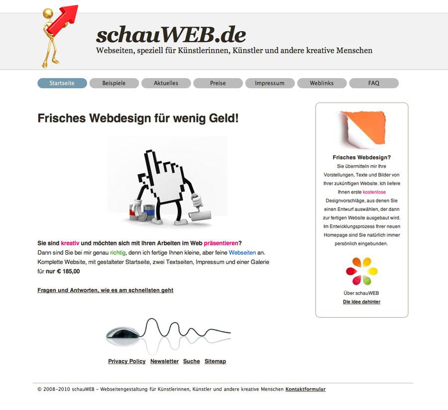 schauWEB Startseite 2010