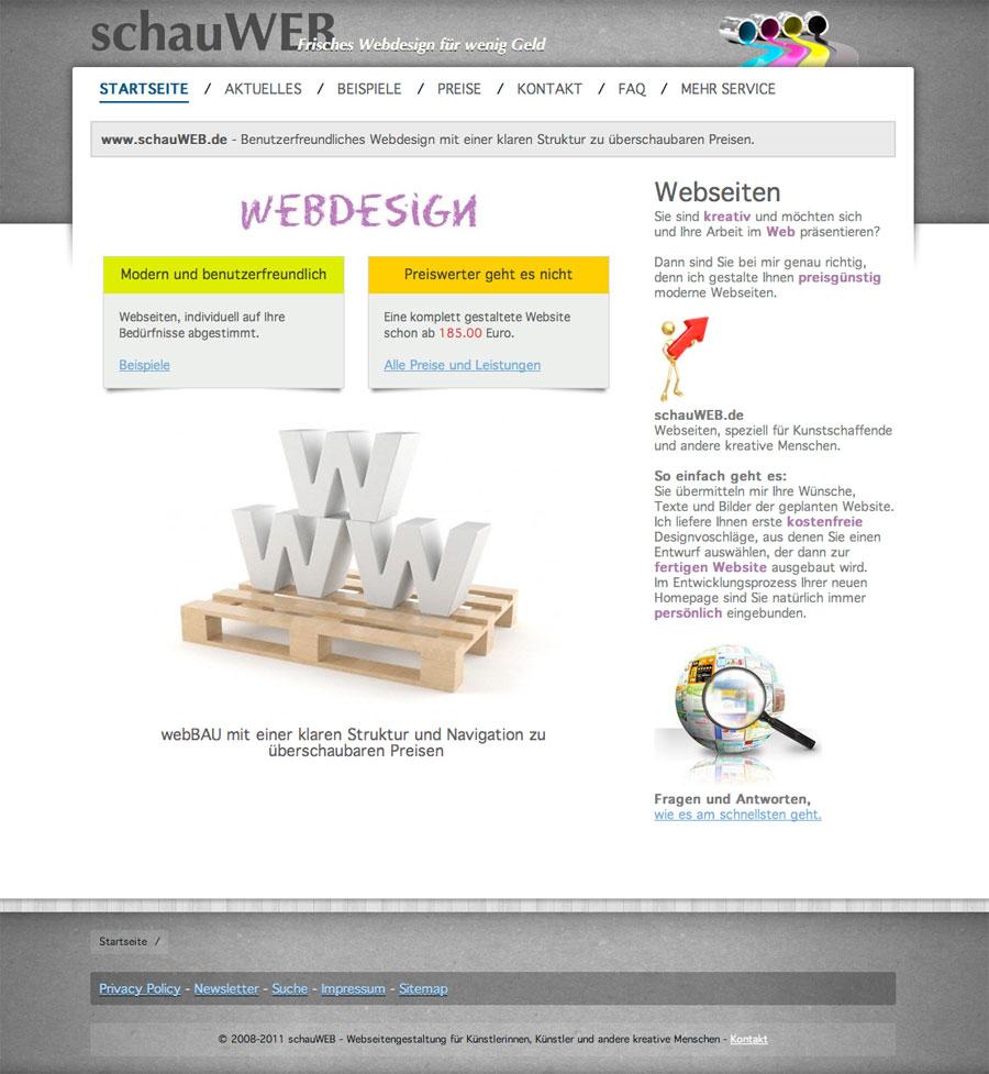 schauWEB Startseite 2011