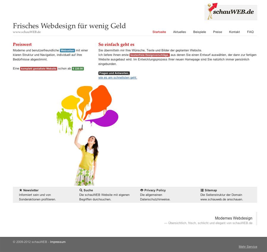 schauWEB Startseite 2012