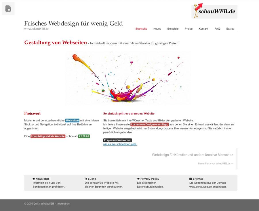 schauWEB Startseite 2013