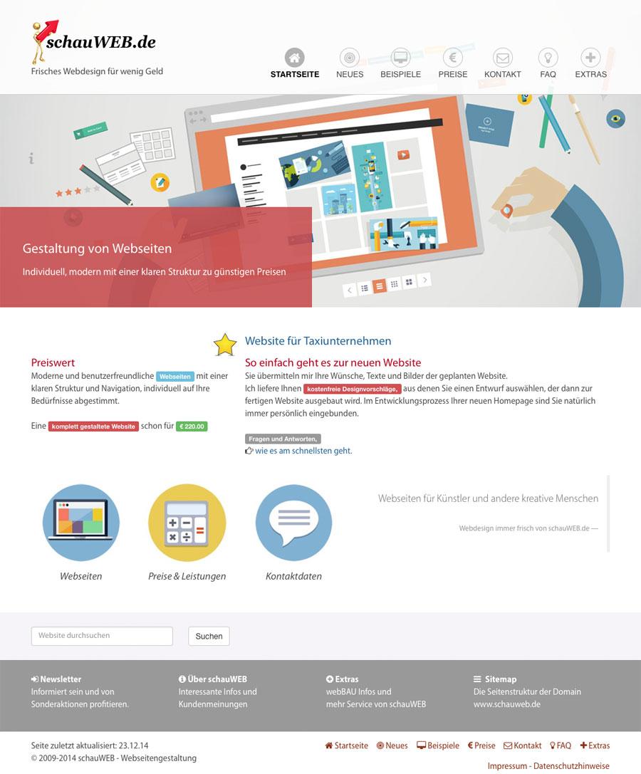 schauWEB Startseite 2014