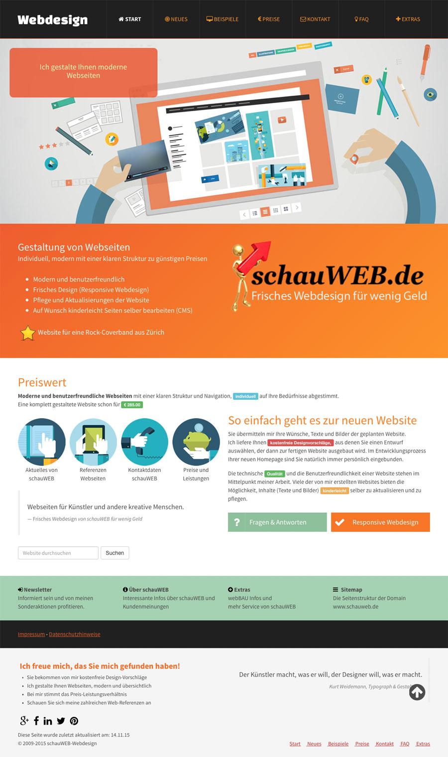 schauWEB Startseite 2015