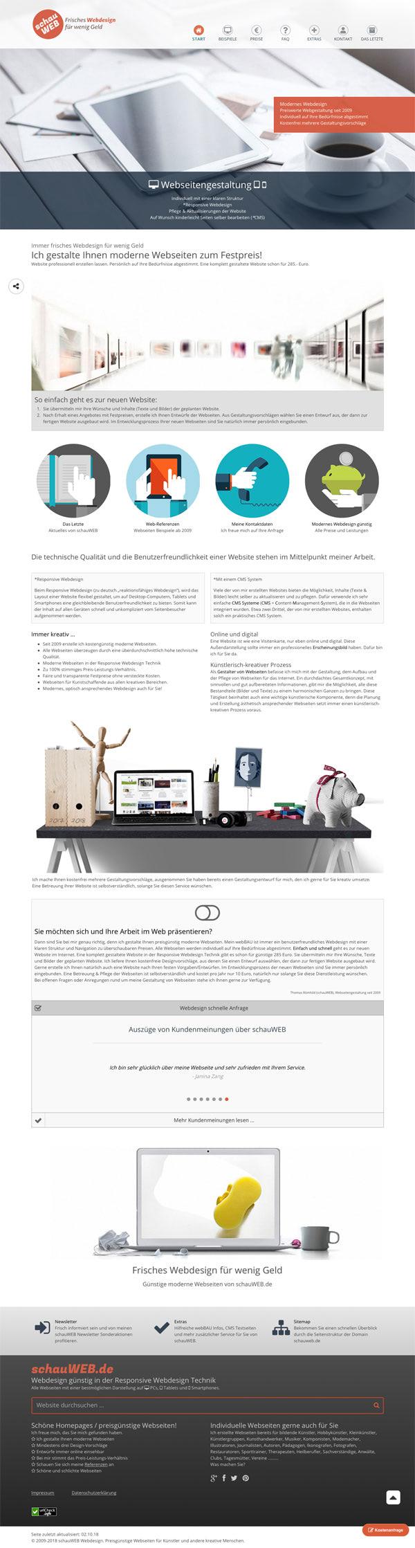 schauWEB Startseite 2018 - 2019