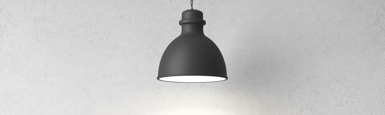 Hängende alte Lampe